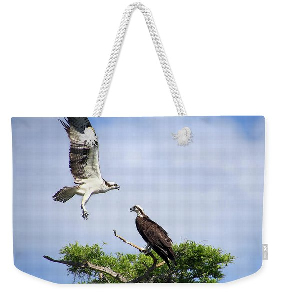 Ospreys At Blue Cypress Lake Weekender Tote Bag