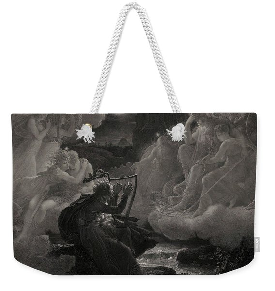 Ossian Awakening The Spirits On The Banks Of The Lora With The Sound Of His Harp, 1801 Weekender Tote Bag