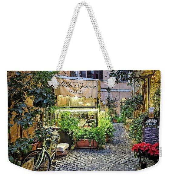 Osteria Roma - Jo Ann Tomaselli Weekender Tote Bag