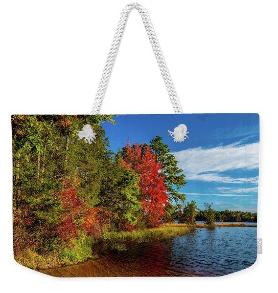 Oswego Lake Pinelands Weekender Tote Bag