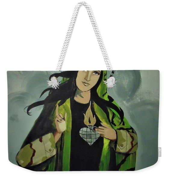 Our Lady Of Veteran Suicide Weekender Tote Bag