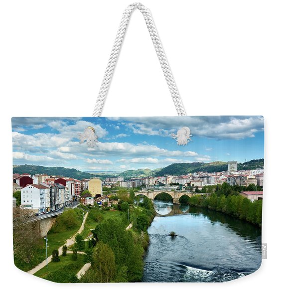 Ourense And The Roman Bridge From The Millennium Bridge Weekender Tote Bag