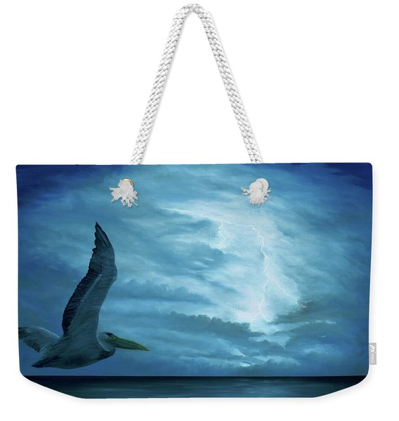 Weekender Tote Bag featuring the painting Out Of The Blue by Kevin Daly