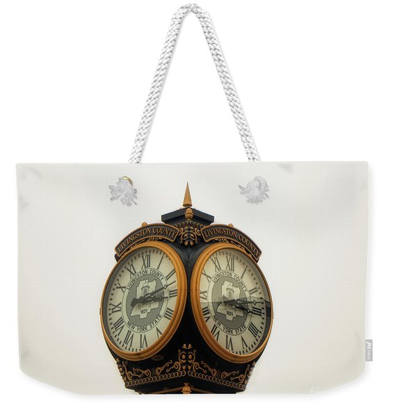 Outside Timepiece Weekender Tote Bag