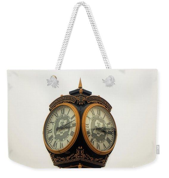 Outside Timepiece Weekender Tote Bag