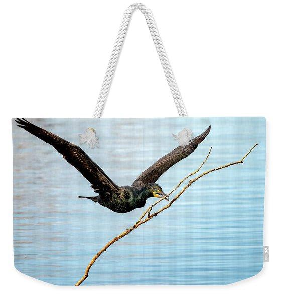 Over-achieving Cormorant Weekender Tote Bag