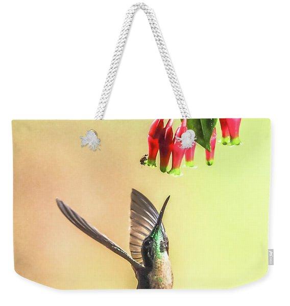 Overhead Weekender Tote Bag