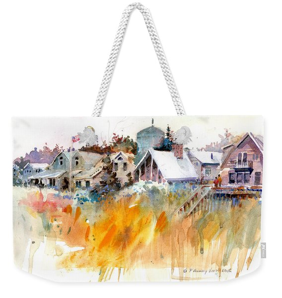 Overlooking The Marsh Grass Weekender Tote Bag