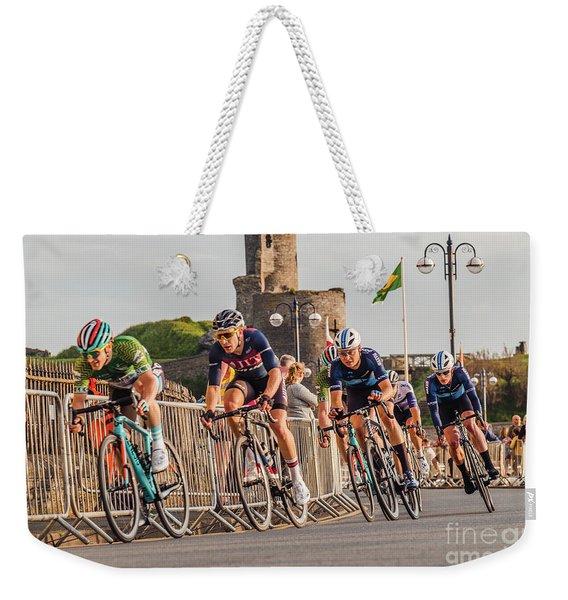 Ovo Energy Cycle Race In Aberystwyth Weekender Tote Bag