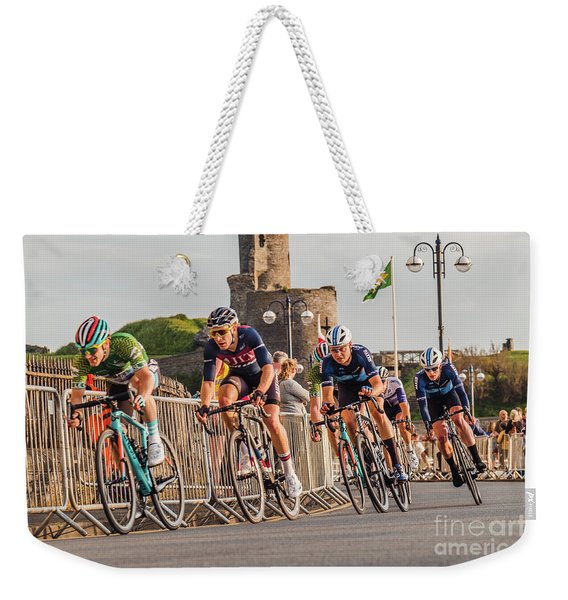 Ovo Energy Cycle Race In Aberystwyth Weekender Tote Bag