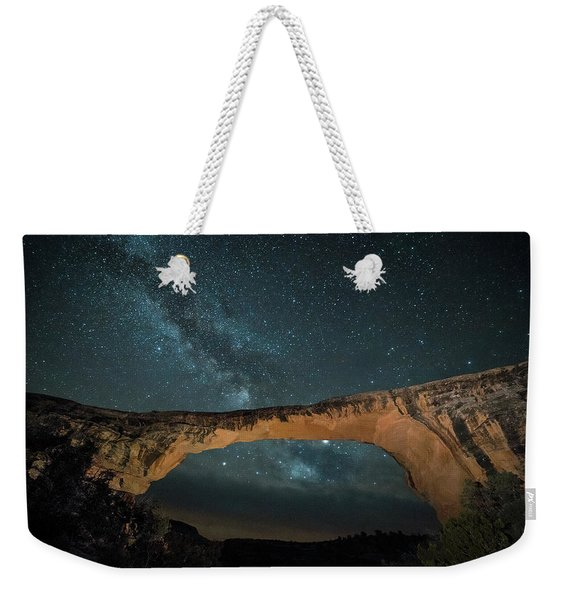 Owachomo Natural Bridge And Milky Way Weekender Tote Bag