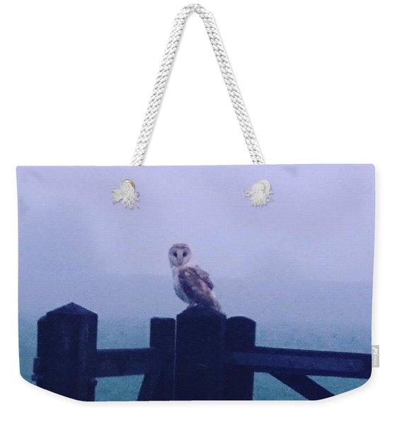 Owl In The Mist Weekender Tote Bag