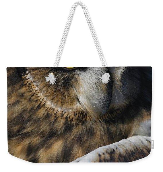 Owl Strikes A Pose Weekender Tote Bag