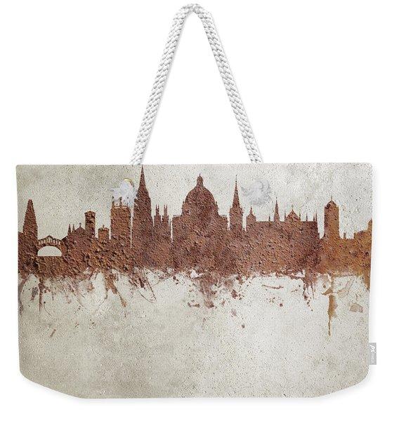 Oxford England Rust Skyline Weekender Tote Bag
