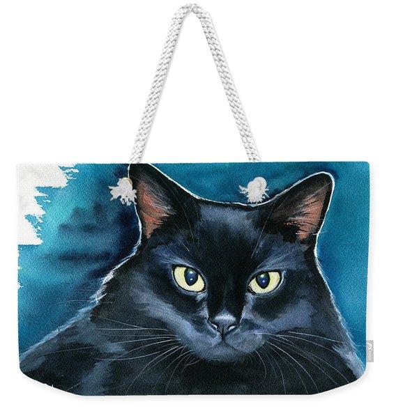 Ozzy Black Cat Painting Weekender Tote Bag