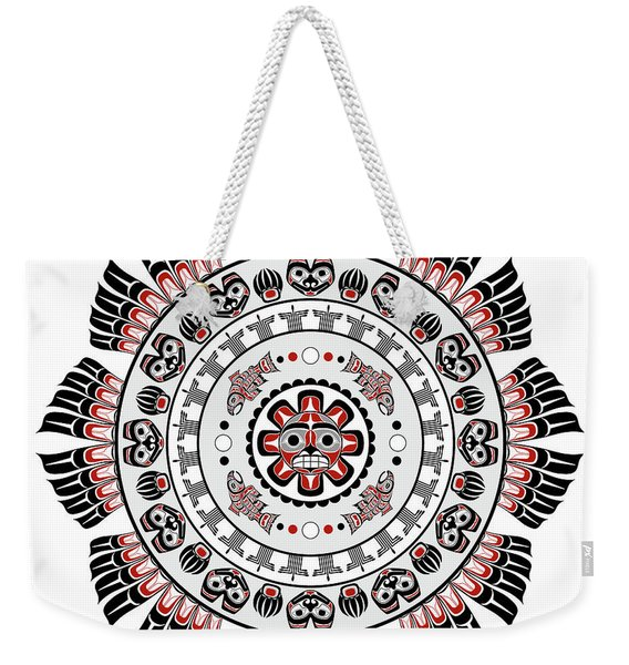 Pacific Northwest Native American Art Mandala Weekender Tote Bag