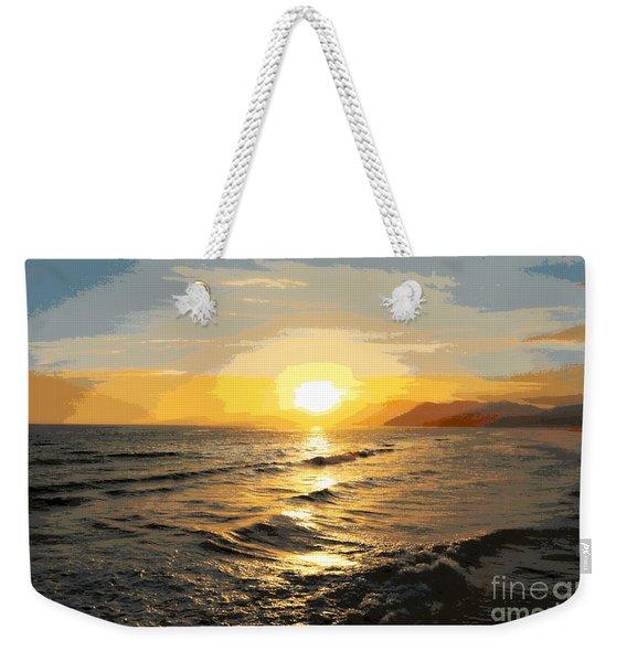 Pacific Sunset Impressionism, Santa Monica, California Weekender Tote Bag
