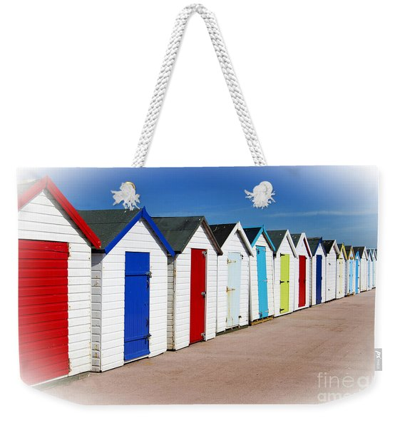 Paignton Beach Huts Weekender Tote Bag