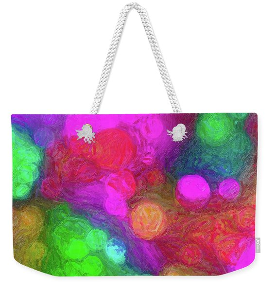 Painted Bokeh Impasto Pinkish Purple Weekender Tote Bag