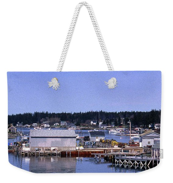 Painted Booth Bay Harbor, Me Weekender Tote Bag