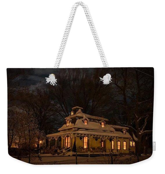 Painted Lady In Winter Weekender Tote Bag
