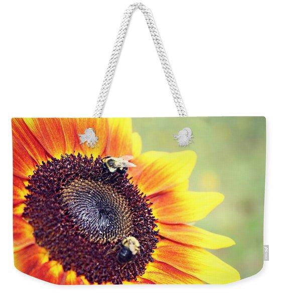 Painted Sun Weekender Tote Bag