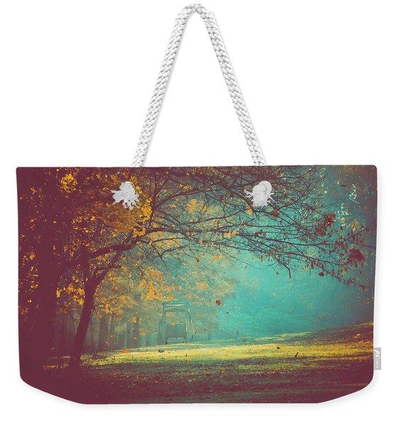 Painted Sunrise Weekender Tote Bag