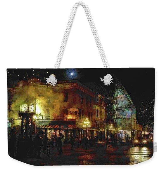 Painterly Steam Clock Weekender Tote Bag