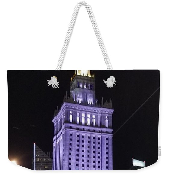 Palace  Of Culture And Science  Weekender Tote Bag