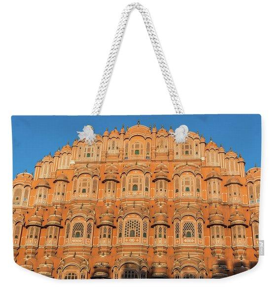 Weekender Tote Bag featuring the photograph Palace Of The Winds by Robin Zygelman