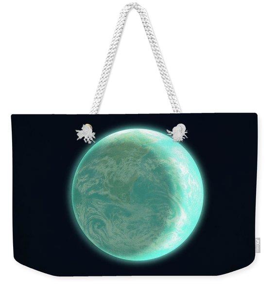 Pale Blue Dot Weekender Tote Bag
