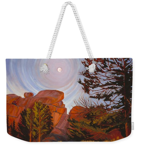 Pale Moon Over Vedauwoo Weekender Tote Bag