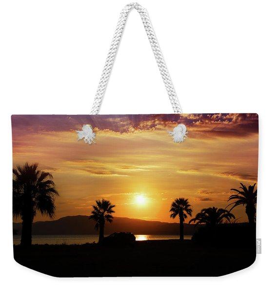 Palm Beach In Greece Weekender Tote Bag