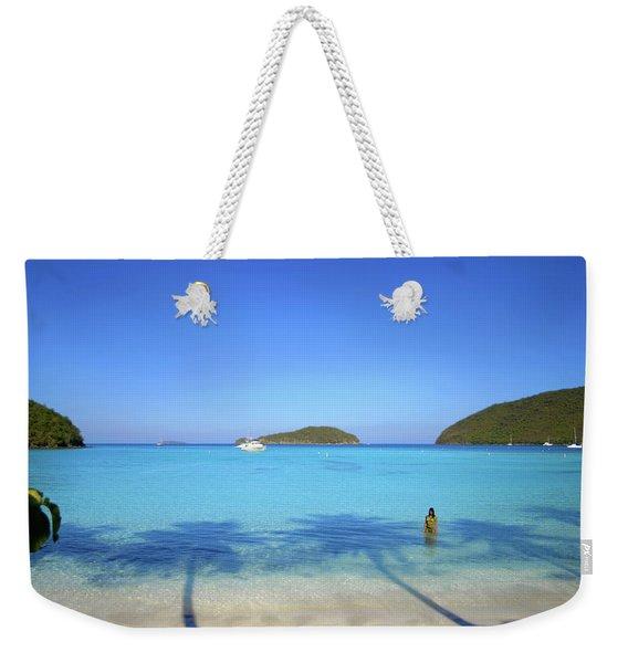 Palm Shadows On The Atlantic Weekender Tote Bag