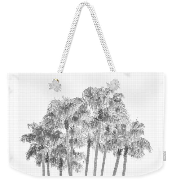 Palm Tree Grove In Black And White Weekender Tote Bag