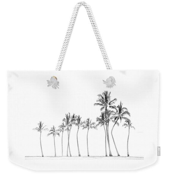 Palm Tree Horizon In Black And White Weekender Tote Bag
