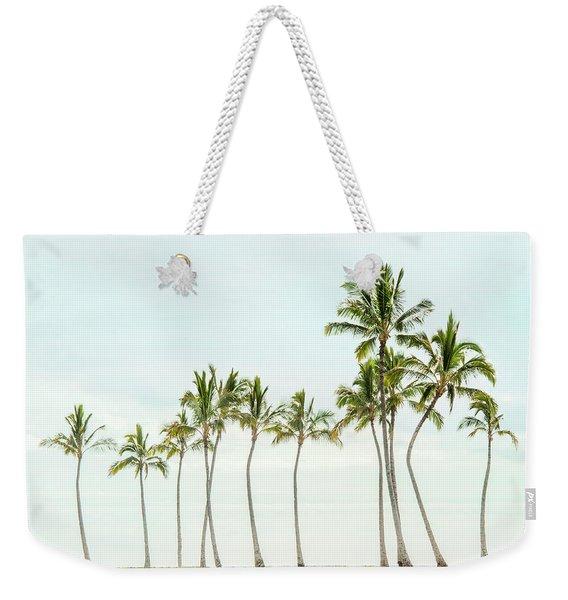 Palm Tree Horizon In Color Weekender Tote Bag