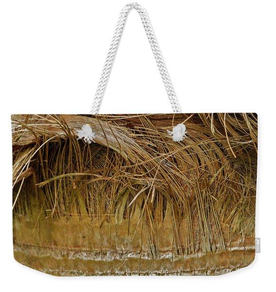 Palm Tree Straw 2 Weekender Tote Bag
