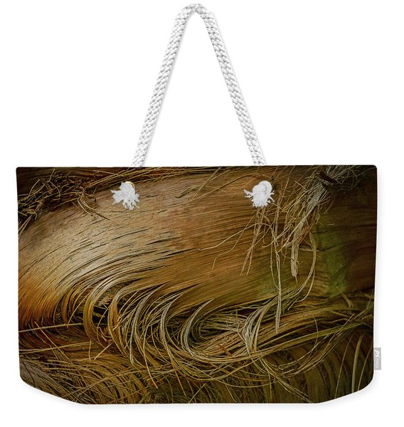 Palm Tree Straw Weekender Tote Bag