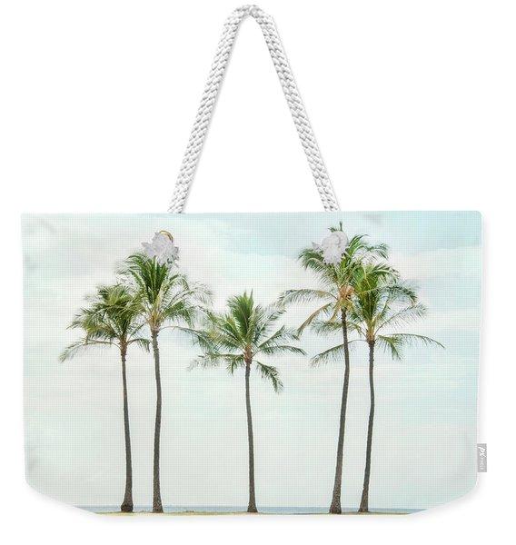 Palm Trees On The Beach Weekender Tote Bag