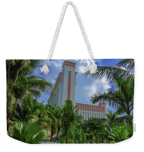 Palms At The Riu Cancun Weekender Tote Bag