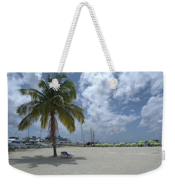 Palmtree And Lounge Chair Weekender Tote Bag