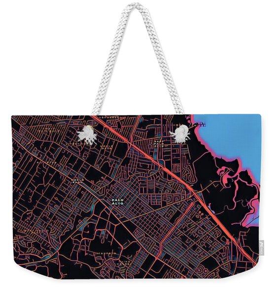 Palo Alto City Map Weekender Tote Bag