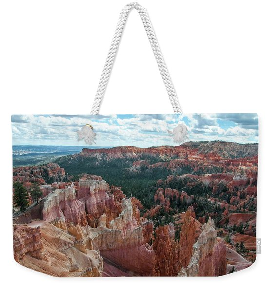 Panorama  From The Rim, Bryce Canyon  Weekender Tote Bag
