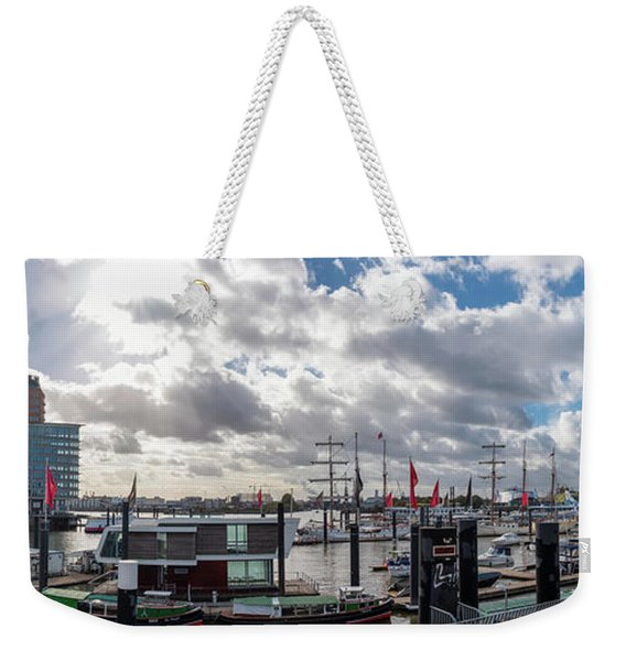 Panoramic View Of Hamburg Weekender Tote Bag