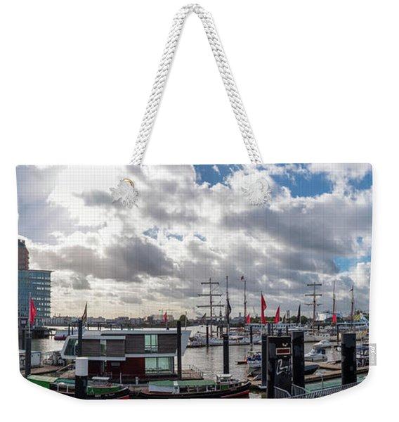 Panoramic View Of Hamburg Weekender Tote Bag