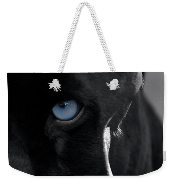 Weekender Tote Bag featuring the digital art Pantheress by ISAW Company