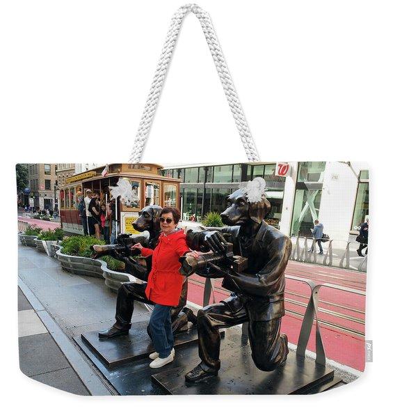 Paparazzi Dogs Weekender Tote Bag