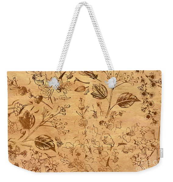 Paper Petal Patterns Weekender Tote Bag