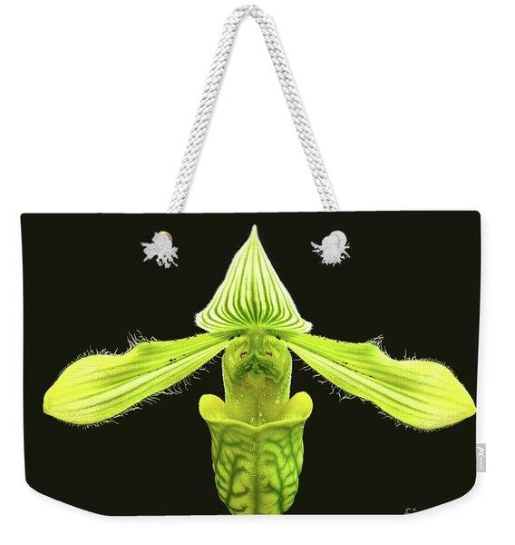 Paphiopedilum Venustum Closeup Weekender Tote Bag